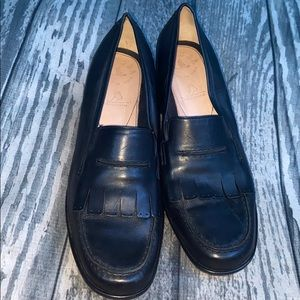 Murtosa Black leather Loafers Shoe Size 4.5